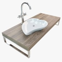 bathroom washbasin plate model