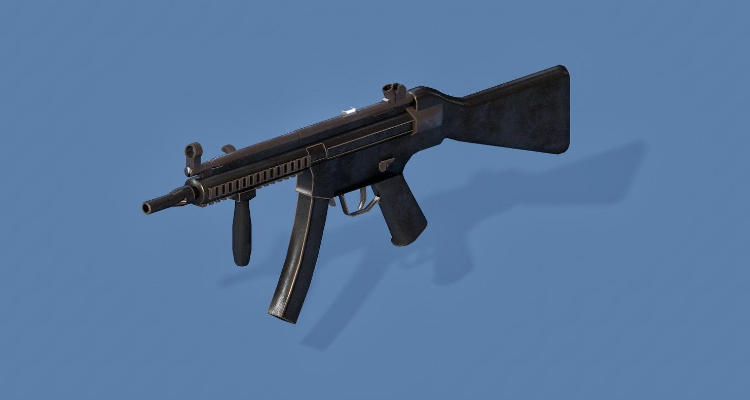 mp5 gun 3D model