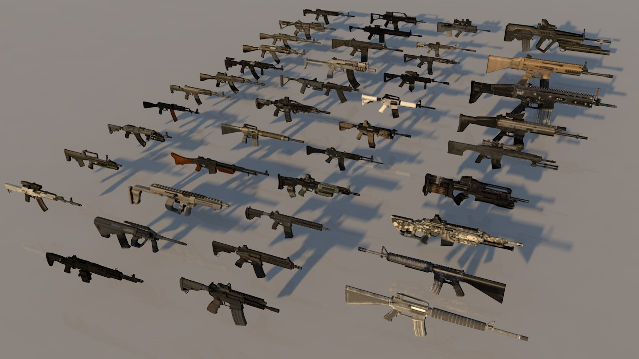assault 42 rifles 3D model