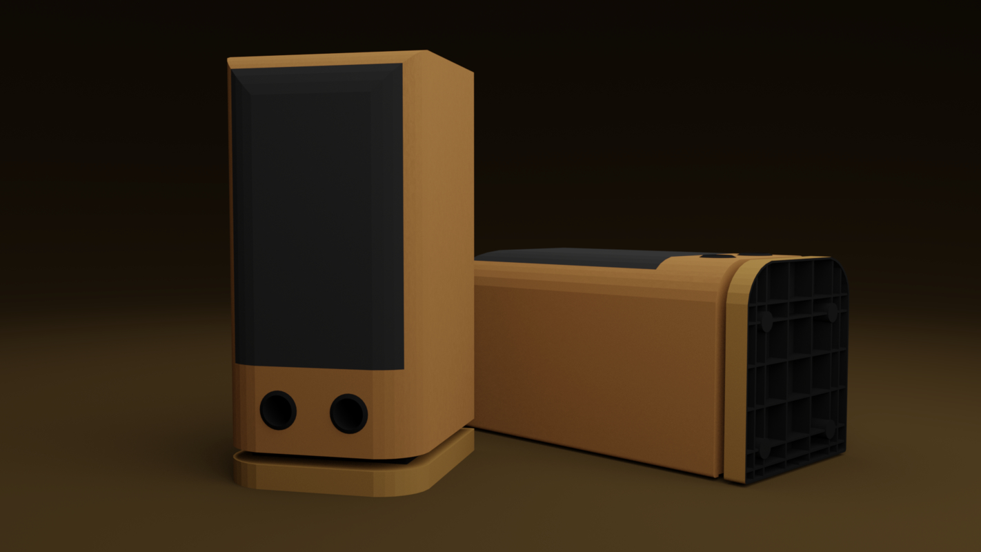 js j-707 speakers 3D model