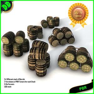 barrels contains stacks 3D