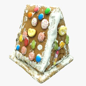 ginger bread house 3D