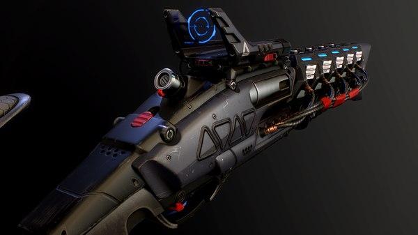 futuristic gun 3D