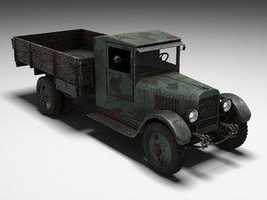 soviet truck zis 3D