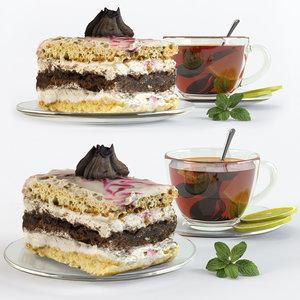 tea cake 3D model