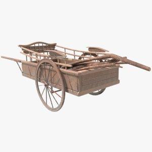 3D carriage car horse