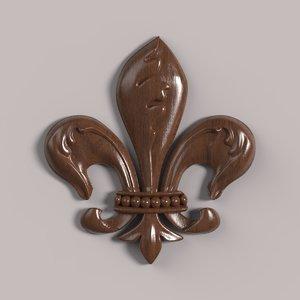 3D carved rosette cnc