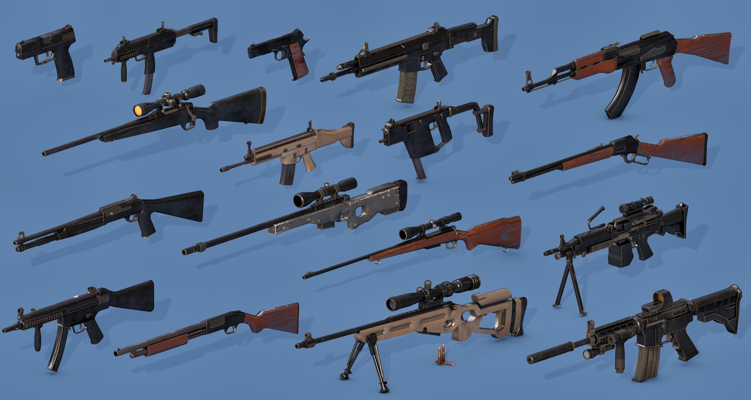 3D gun rifle