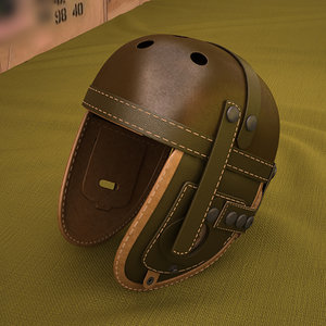 tank helmet ww2 3D model