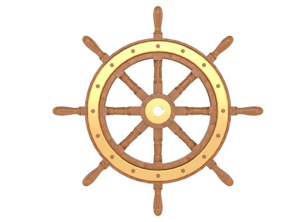 3D ship wheel