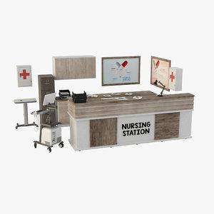 3D nursing station