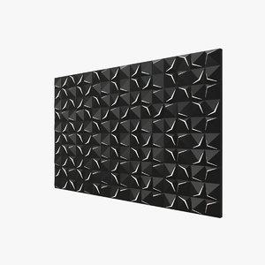 3D wall panel model