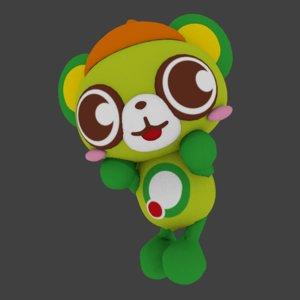 3D bear mascot model