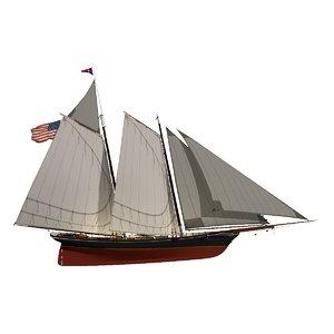 race america schooner 3D model