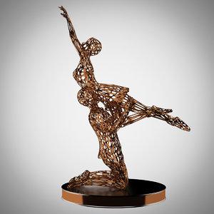 sculpture men women dance 3D model