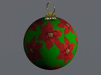 Christmas ball Poinsettias flower