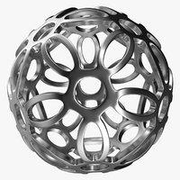 Silver Flower Ball