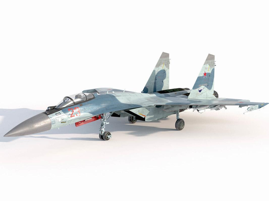 sukhoi su-35 flanker-e 3D model