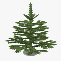 christmas toy fir tree model