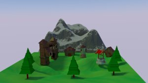 populated landscape 3D