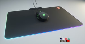 razer naga chroma mouse 3D model