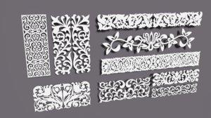 decorative carved 3D model