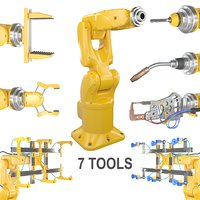 Industrial Robotic Arm +7 tools