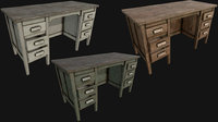 old office table pbr 3D