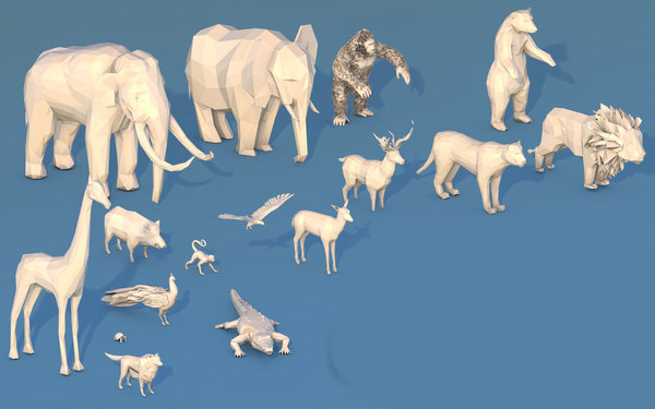 jungle animals 3D model