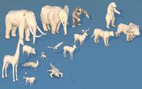jungle animals 3D model
