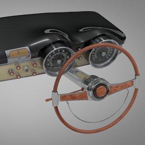 3D lancia aurelia b53 coupe model