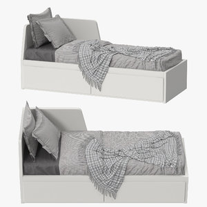 ikea fllekke daybed 3D model