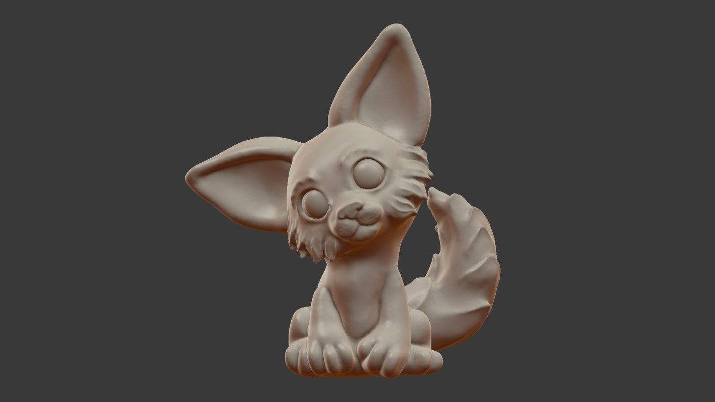 fox sculpt model