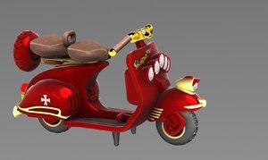 steampunk classic vespa 3D model