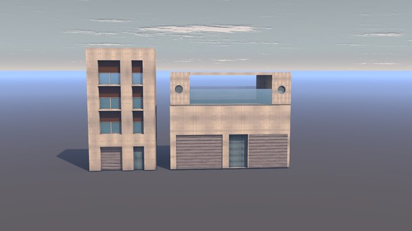 3D architect architectural model