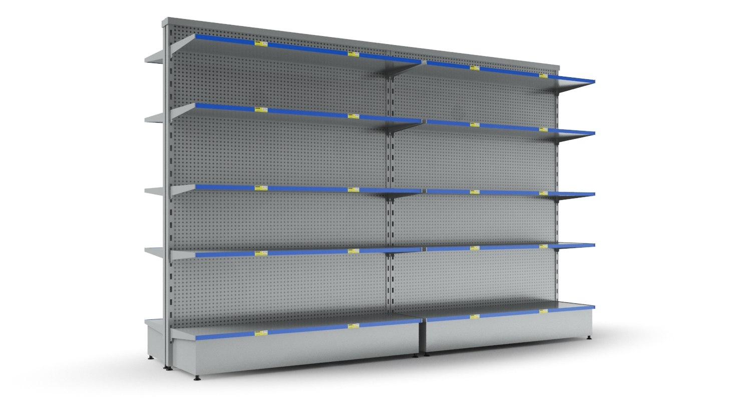 3D display shelves shelf