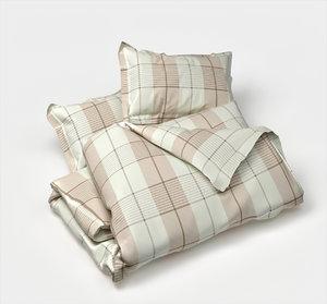 3D set blanket 2 pillows model