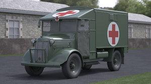 3D model 2 wwii ambulance