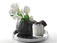 3D model calla vase home candle