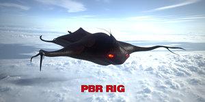 3D extraterrestrial creature