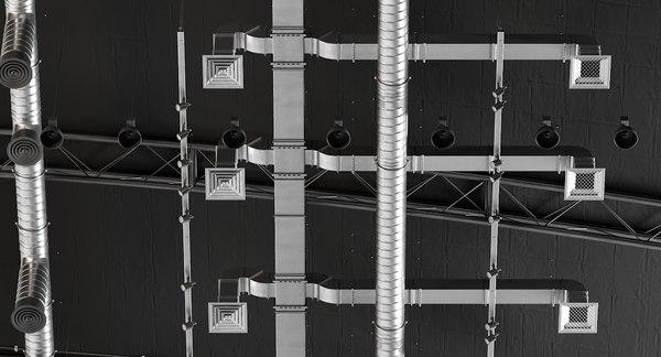 3D ceiling ventilation 6 model