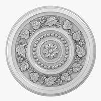 3D rose ceiling medallion m105 model
