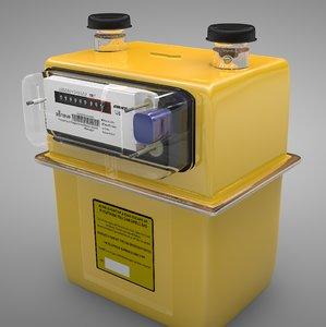 gas meter sensus g4 3D model