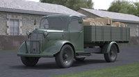 2 wwii truck 3D model