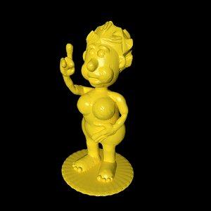 character print stl 3D