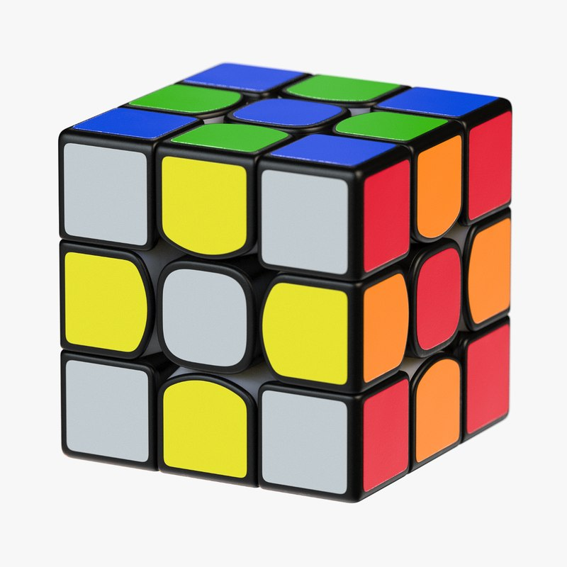cube rubik s 3D model