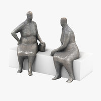 scan bronze statues 3D model