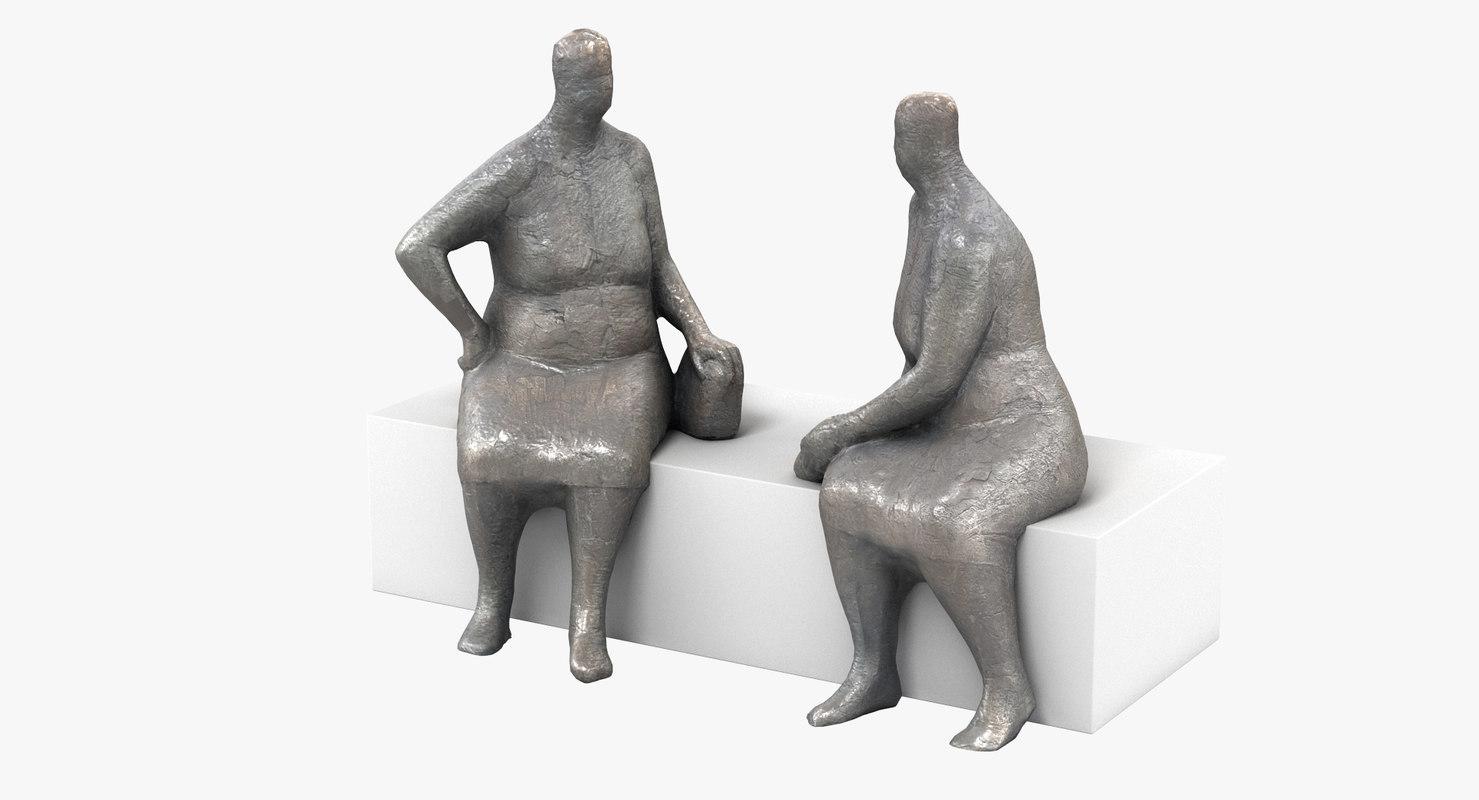 scan bronze statues 3D model
