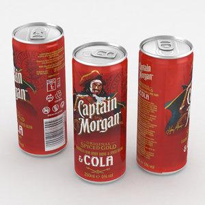 3D cola alcohol