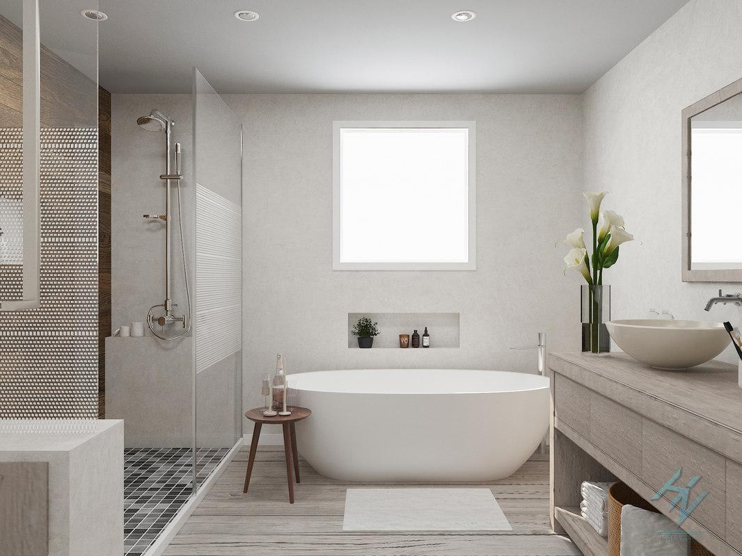 3D bathroom bath room